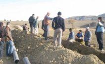 Müsellim Göleti Kapalı Sistem Yapıldı
